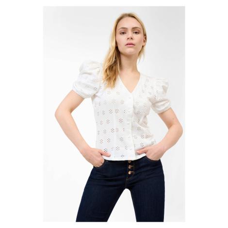 Ažúrové tričko s gombíkmi Orsay