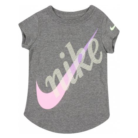 Nike Sportswear Tričko  ružová / sivá / svetložltá