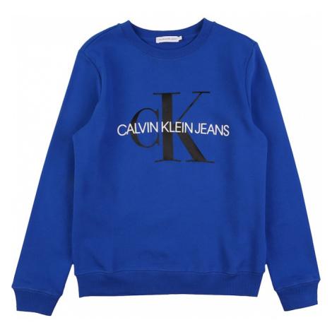 Calvin Klein Jeans Mikina  čierna / biela / kráľovská modrá