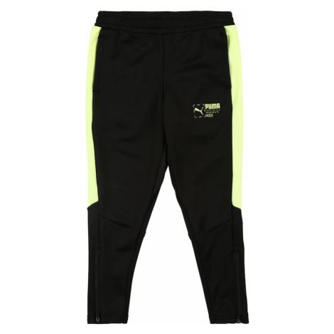 PUMA Športové nohavice 'Poly'  neónovo žltá / čierna