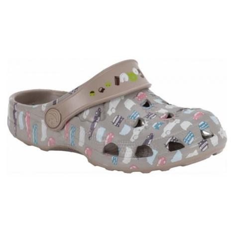 Coqui LITTLE FROG PRINTED béžová - Detské sandále