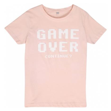 Mister Tee Tričko 'Game Over'  pastelovo ružová / biela