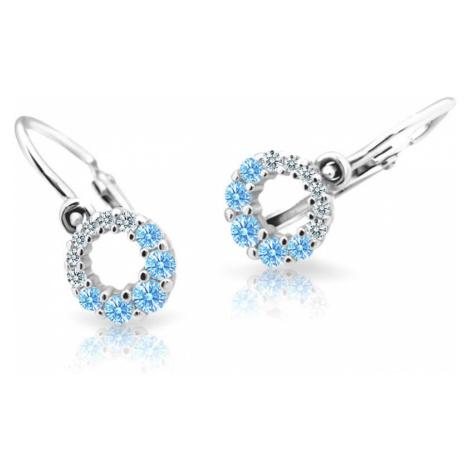 Cutie Jewellery Detské náušnice C2154-10-X-2 světle modrá