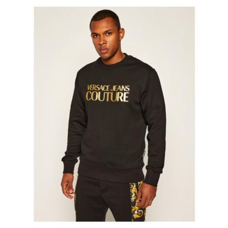 Versace Jeans Couture Mikina B7GZA7TQ Čierna Regular Fit