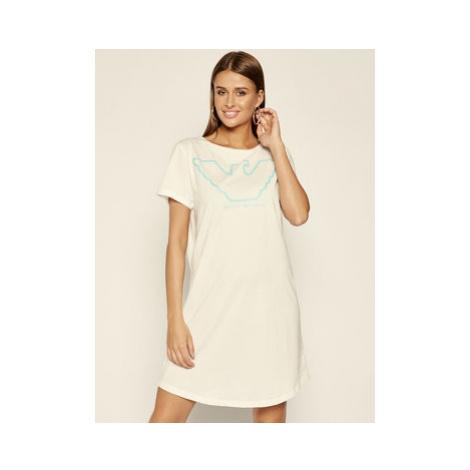 Emporio Armani Underwear Nočná košeľa 164332 0P255 00110 Biela Regular Fit