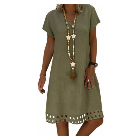 Dámske olivové šaty BETTA
