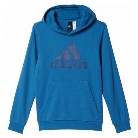 adidas ESSENTIALS LOGO HOODIE modrá - Detská mikina