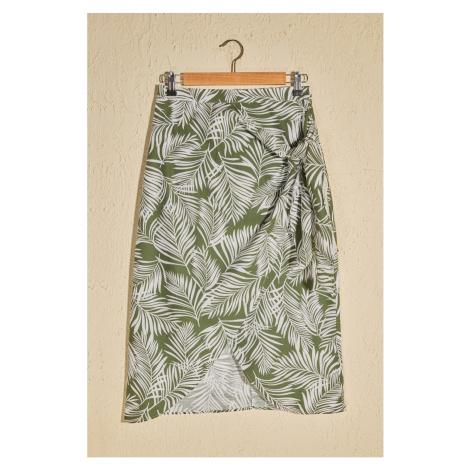 Dámska sukňa Trendyol Leaf patterned
