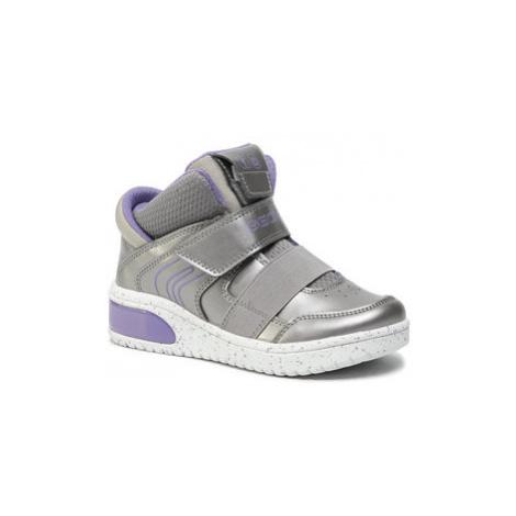 Geox Sneakersy J Xled G. A J848DA 0NF6K C1335 S Strieborná
