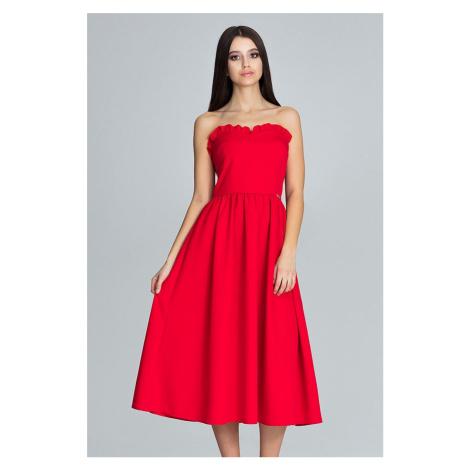 Červené šaty M602 Figl