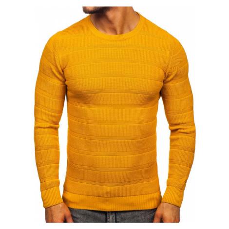 Kamelový pánsky sveter Bolf 4357 MADMEXT