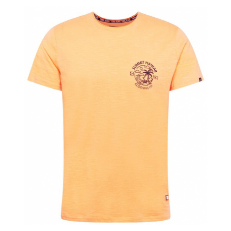 Cars Jeans Tričko 'ONTARIO'  oranžová melírovaná / tmavomodrá