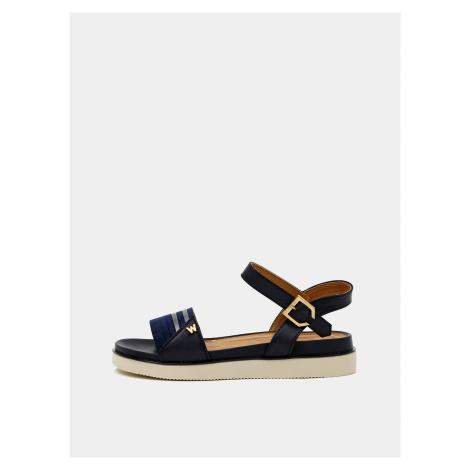 Tmavomodré dámske sandále Wrangler