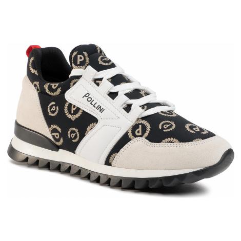 Sneakersy POLLINI - SA15034G1AT4100A Nero/Cream/Bianco