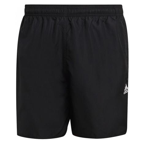 Čierne pánske plavecké šortky Adidas Short Length Solid Swim