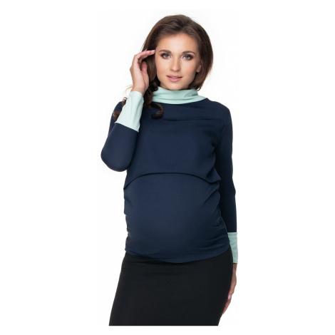 Tmavomodrý tehotenský top 0159 PeeKaBoo