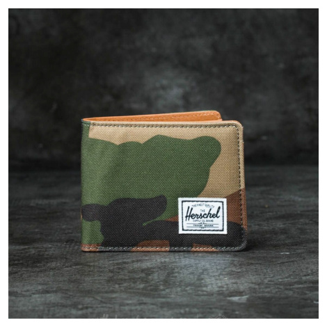 Herschel Supply Co. Hank + Wallet Woodland Camo/ Tan Synthetic Leather