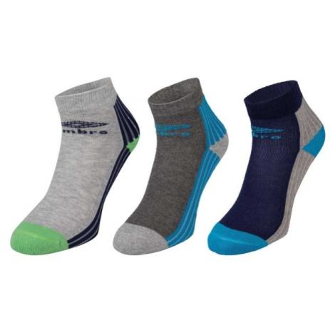Umbro SPORT SOCKS 3P modrá - Detské ponožky