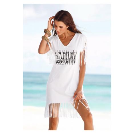 BEACH TIME Plážové šaty  biela Beachtime