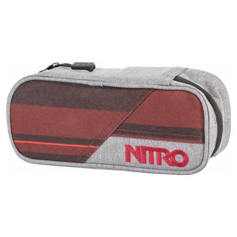 Nitro Pencil case Red stripes