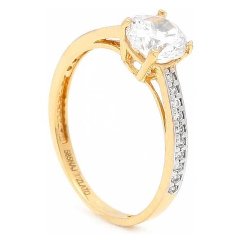 Zlatý zásnubný prsteň JASMINE yellow