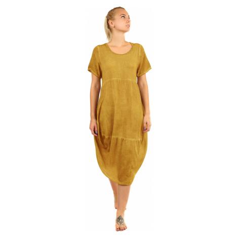 Plážové šaty voľného strihu