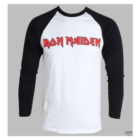 Tričko metal ROCK OFF Iron Maiden Logo Čierna biela
