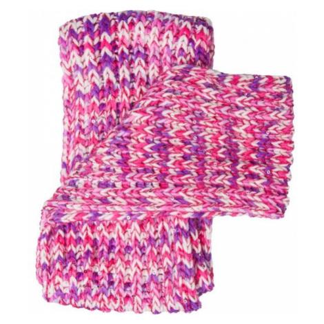 Lewro BIBURELA fialová - Dievčenský pletený šál