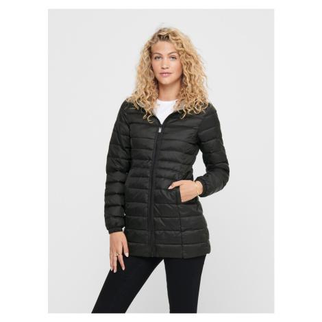Čierny zimný prešívaný kabát ONLY New Thao