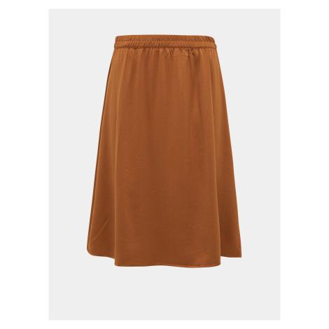 Hnedá sukňa VILA Abota