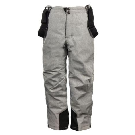 ALPINE PRO GUSTO sivá - Detské lyžiarske nohavice
