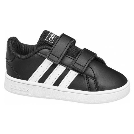 adidas - Čierne tenisky na suchý zips Adidas Grand Court Inf