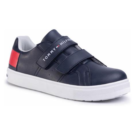 Sneakersy TOMMY HILFIGER - Low Cut Velcro Sneaker T3B4-30719-0193 D Blue/White/Red Y004