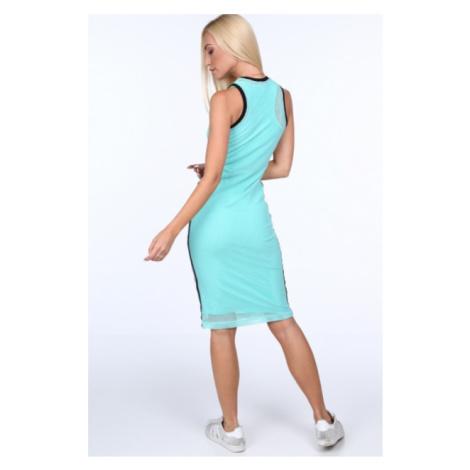 Svetlozelené dámske šaty v športovom štýle FASARDI