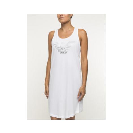 Emporio Armani Underwear Nočná košeľa 164189 9P291 00010 Biela Regular Fit