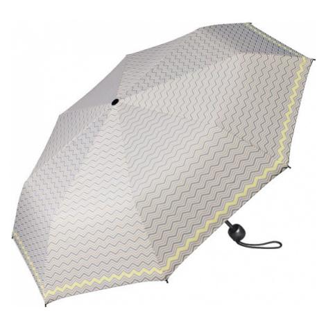 Esprit Dámsky skladací dáždnik Mini Basic printed sivý so žltým okrajom