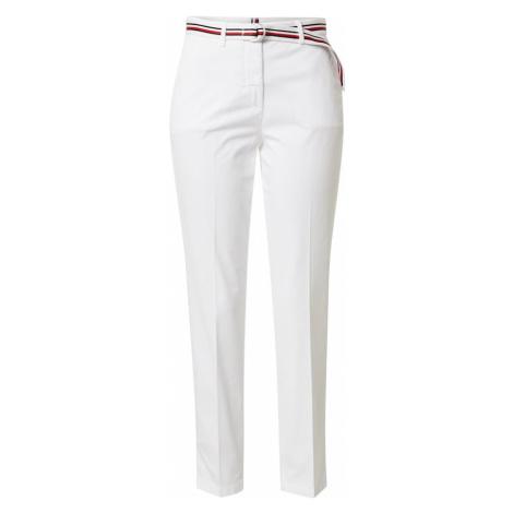 TOMMY HILFIGER Plisované nohavice  biela / červená / námornícka modrá