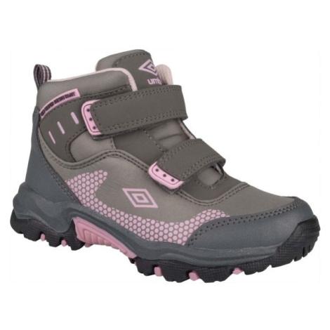 Umbro JON šedá - Detská trekingová obuv