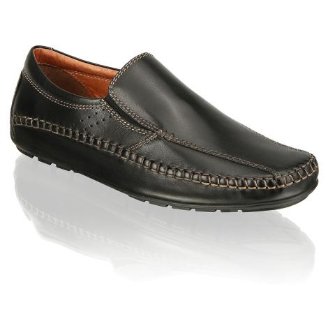 Master Class hladká koža Športová nazúvacia obuv čierna