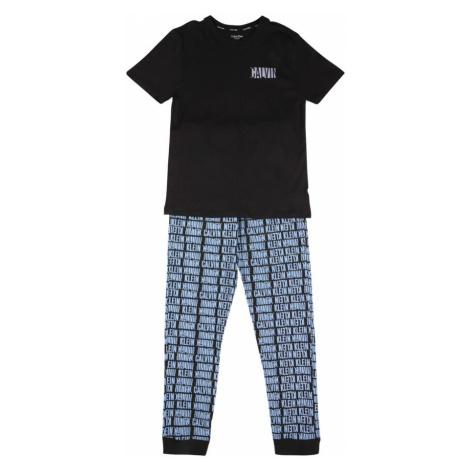 Calvin Klein Underwear Pyžamo  čierna / svetlomodrá