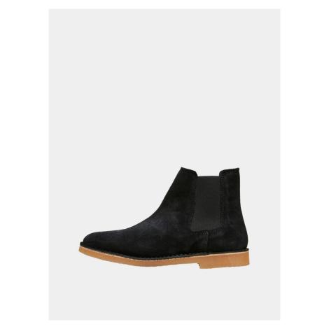 Selected Homme čierne pánske chelsea topánky Royce