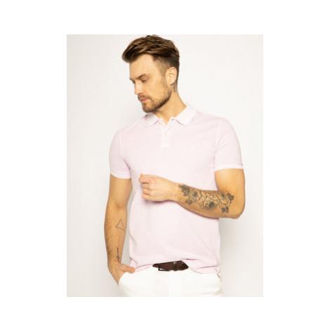 Marc O'Polo Polokošeľa 22226653024 Ružová Regular Fit