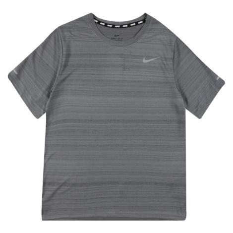 NIKE Funkčné tričko 'Miler'  antracitová / čadičová