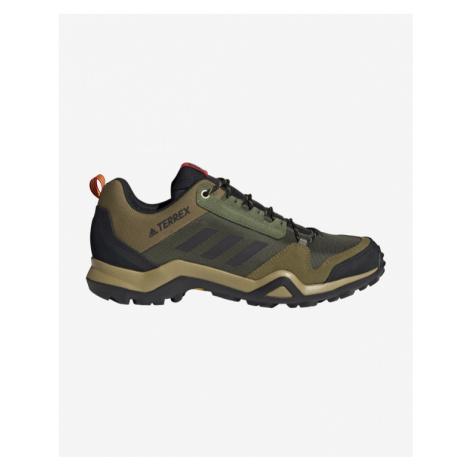 adidas Performance Terrex Ax3 Hiking Outdoor obuv Zelená Hnedá