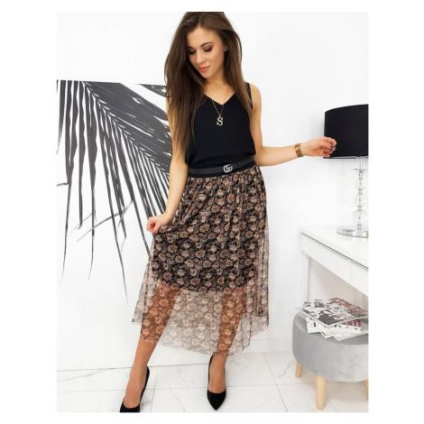 Midi skirt CELESTE black CY0297 DStreet