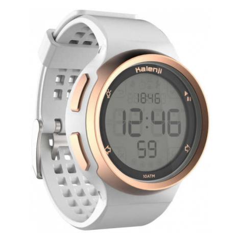 KALENJI Pánske hodinky na beh W900 bielo-medené BIELA