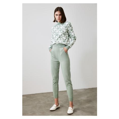 Trendyol Mint Heart Knitwear Bottom-Top Suit