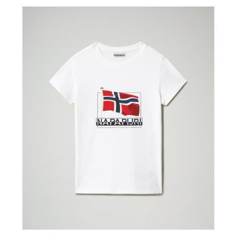 Napapijri T-shirt K Seji Ss Bright White 002