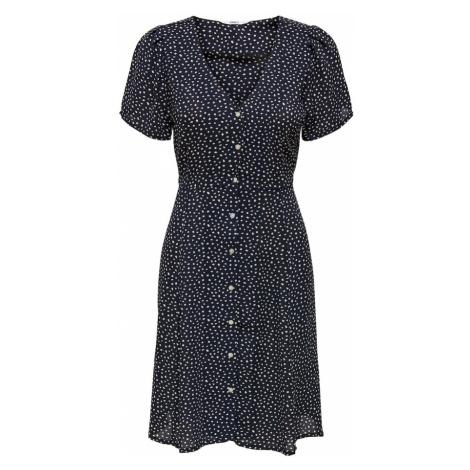 ONLY Košeľové šaty 'ONLSONJA'  biela / tmavomodrá