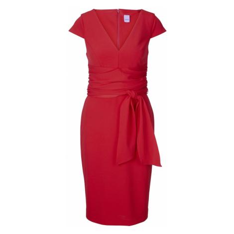 heine Puzdrové šaty  červená